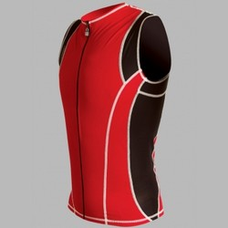 Men Riviera Tri Jersey Full Front Zip RED