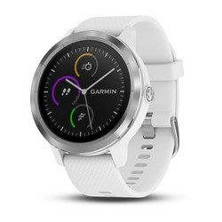 GARMIN - vívoactive® 3 White with Stainless Hardware