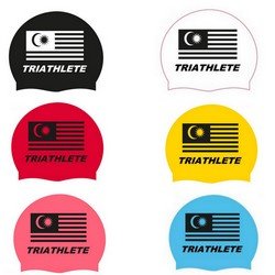 QUICK-SPORT SOFT SILICONE SWIM CAP MALAYSIA TRIATHLETE