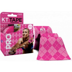 KT TAPE - PRO 20 PRECUT STRIPS LIMITED EDITION PINK ARGYLE