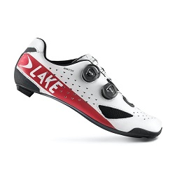 CX 238 WIDE CARBON ROAD SHOE WHITE RED
