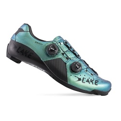 LAKE - CX403 WIDE CARBON ROAD SHOES CHAMELEON GREEN