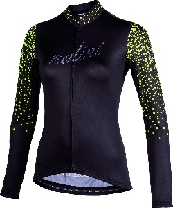 AIS LW LADY LONG SLEEVE JERSEY 2.0 BLK FLUO