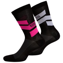 NALINI STRIPE SOCKS CYCLE - BLACK
