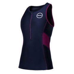 Womens Activate Top Black/Wine