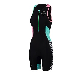 Womens Activate Plus Short Sleeve Trisuit Zebra Fly